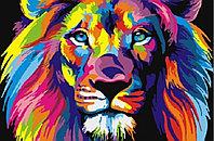 """Картина по номерам """"Радужный лев"""", 20х30 см"""