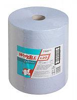 Протирочный материал в рулонах WypAll L20 Extra+ двухслойный голубой (1 рулон 500 листов) 7301