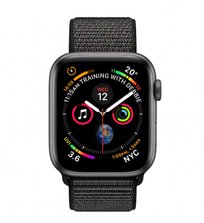 Смарт-часы Apple Watch Series 5 GPS 44mm Space Grey Aluminium Case with Sport Band (264618) Black