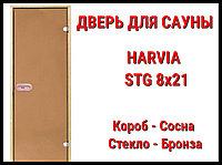 Дверь для сауны Harvia STG 8х21 (Короб-Сосна)