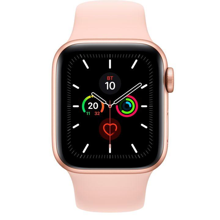 Смарт-часы Apple Watch Series 5 GPS 44mm Gold Aluminium Case with Pink Sand Sport Band (264267) Gold
