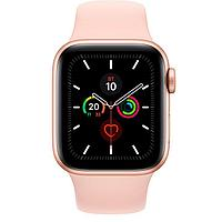 Смарт-часы Apple Watch Series 5 GPS 44mm Gold Aluminium Case with Pink Sand Sport Band (264267) Gold, фото 1