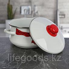 """Набор эмалированной посуды из 3-х кастрюль (2л, 3л, 4л), """"Бант"""" 7-316/4, фото 2"""