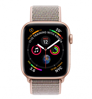 Смарт-часы Apple Watch Series 4 GPS 40mm Aluminium Case with Pink Sand Sport Loop Model (A1977 MU692GK/A) Gold