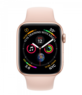 Apple Watch Series 4 GPS 40mm Aluminium Case with Pink Sand Sport Band (Model A1977 MU682GK/A) Gold