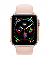 Apple Watch Series 4 GPS 40mm Aluminium Case with Pink Sand Sport Band (Model A1977 MU682GK/A) Gold, фото 1