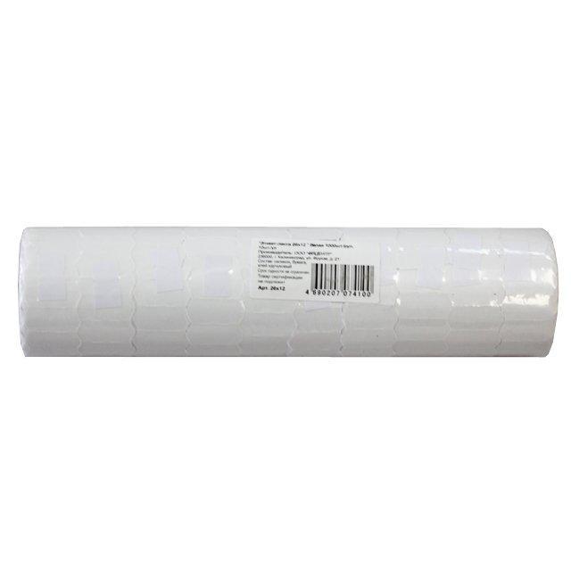 Этикет лента 21,5*12 мм., бел., бум. 800 эт/рул