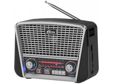 Радиоприемник в стиле ретро с фонариком Ritmix RPR-050 {FM, USB, microSD, AUX, MP3, WMA} (Серый)