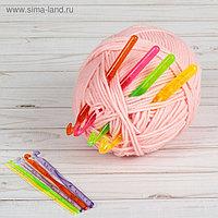 Набор крючков для вязания, d = 3-12 мм, 14 см, 9 шт, цвет МИКС