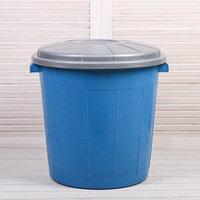 Бак хозяйственно-бытовой 'Колор', 50 л, с крышкой, цвет МИКС