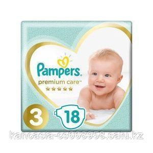 Pampers Подгузники Pampers, Premium Care Midi 3, M, 18 шт/упак.