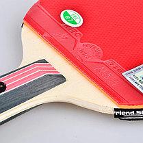 Ракетка для настольного тенниса Friendship 2 звезды в чехле, фото 3