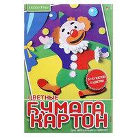 Набор для детского творчества А4, 5 листов картон цветной 5 листов бумага цветная, 'Хобби Тайм', МИКС