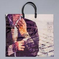 Пакет 'Мужской характер', полиэтиленовый с пластиковой ручкой, 38 х 35 см, 110 мкм (комплект из 10 шт.)