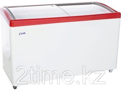 Морозильный ларь Снеж МЛГ-500, красный глянец