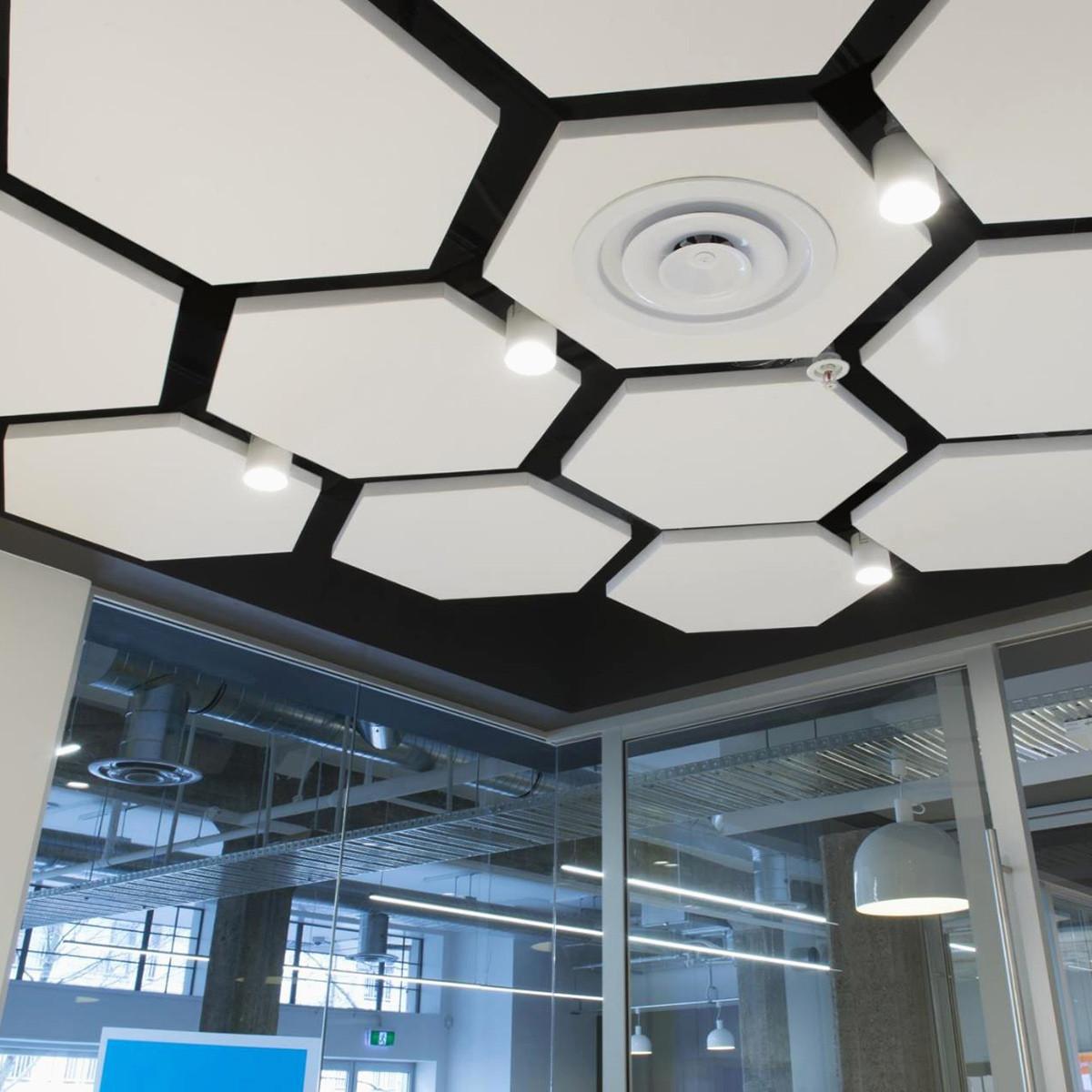 Акустические подвесные панели 1170x1010x30 Hexagon