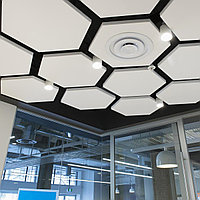 Акустические подвесные панели 1170x1010x30 Hexagon, фото 1