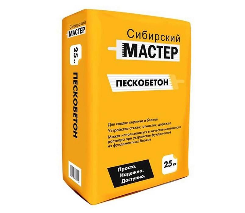 Пескобетон М200 Сибирский мастер