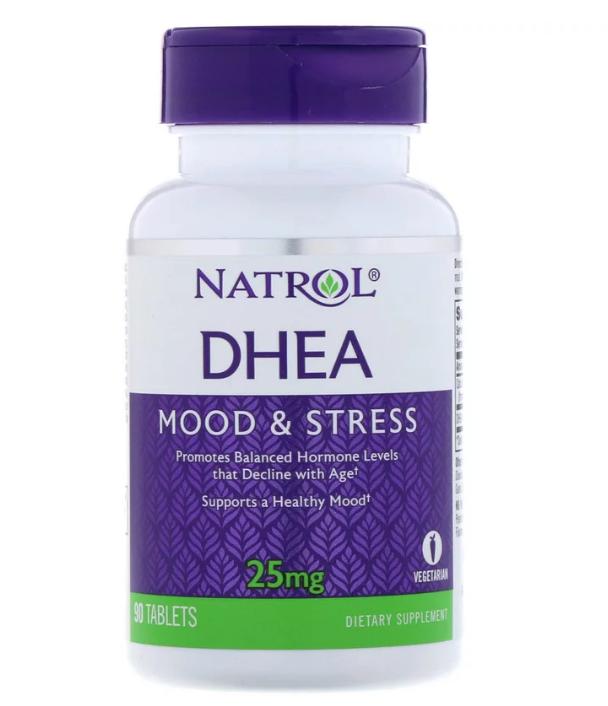 Natrol, DHEA, 25 мг, 90 таблеток