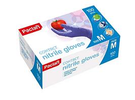 """Перчатки нитриловые одноразовые Paclan """"Practi"""", размер М синие, 100 штук в упаковке"""
