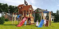 """Детская площадка Савушка LUX-11, рукоход, 2 горки, игровая башня, игровой """"чердачок"""", 2 качели, шторм-трап., фото 1"""