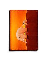 Обложка для паспорта, PAS1 «Слоны оранжевые»