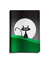 Обложка для паспорта, PAS1 «Кот с луной»