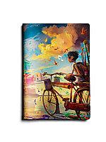 Обложка для паспорта, PAS1 «Мальчик и велосипед»