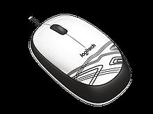 Logitech 910-002944 M105 White Мышь проводная (белая с рисунком, оптическая, 1000dpi, USB, 1.5м)