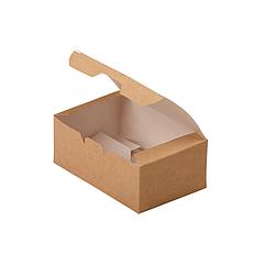 Упаковка для куриных крыльев, снеков и наггетсов 115*75*45  (Eco Fast Food Box S) DoEco (25/600)