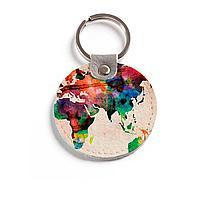 Брелок (Круглый) TRI4 «World map»
