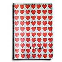 Обложка для паспорта, PAS1 «Сердечки»