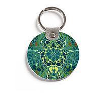 Брелок (Круглый) TRI4 «Мозаичные цветы»