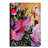 Обложка для паспорта, PAS1 «Пионы на розовом»