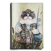 Обложка для паспорта, PAS1 «Кот-рыбак 2»
