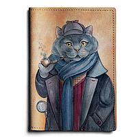 Обложка для паспорта, PAS1 «Шерлок кот»