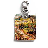 Брелок (Прямоугольный ) TRI1 «Vincent van Gogh Blossoming Garden»