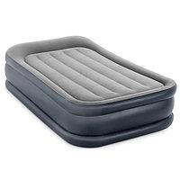 Односпальная надувная матрас-кровать с насосом Intex 64132