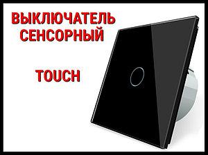 Выключатель сенсорный Touch Black (Однолинейный)