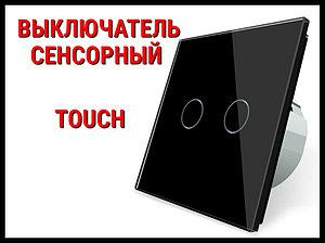Выключатель сенсорный Touch Black (Двухлинейный)
