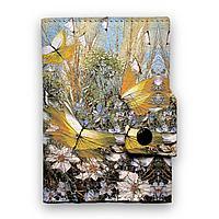 Кошелек мини, кардхолдер, PR24 «Полет над цветами и травами»