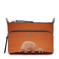 Сумка кросс-боди, BG97 «Слоны оранжевые»