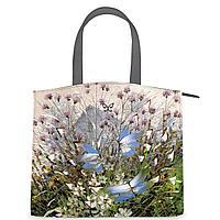 Сумка на руку, BG91 «Бабочки над цветами и травами»