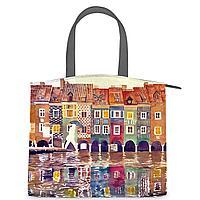 Сумка на руку, BG91 «The city watercolor»
