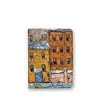 Обложка для паспорта, PAS4 «Дерево и желтый домик ранней весной»