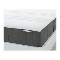 Матрас ХОВОГ жесткий/темно-серый 140х200  ИКЕА, IKEA, фото 1