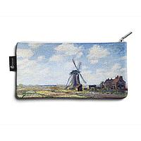 Косметичка small KOS1 «Claude Monet Tulip Field and windmill»