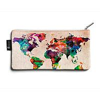 Косметичка small KOS1 «World map»