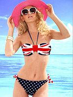 Британский флаг купальник с чашками (Анжелика)