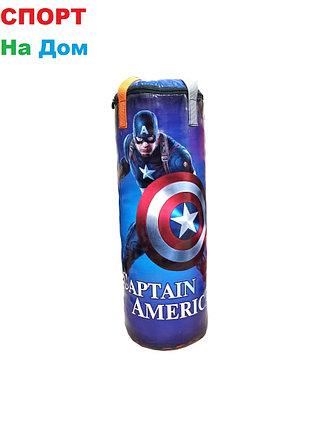 Детская подвесная груша для бокса Капитан Америка 35х20х20, фото 2